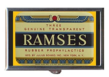 amazon com ramses vintage condom tin 1947 guitar pick or pill box