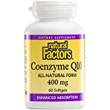 natural factors coq10 - Natural Factors - Coenzyme Q10 400mg, Antioxidant Support with Enhanced Absorption, 60 Soft Gels