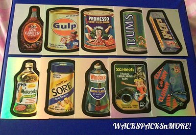2007 WACKY PACKAGES ALL NEW SERIES 5 (ANS5) COMPLETE SET OF *FOILS* + WRAPPER!! (2007 Wacky Packages)