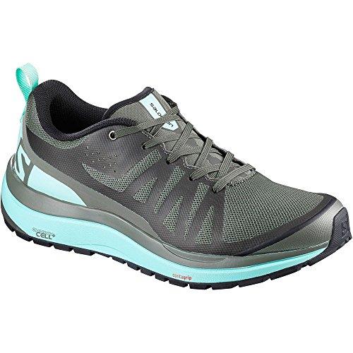 Salomon Women Odyssey Pro Low Hiking Shoes Castor Gray/Eggshell Black 7