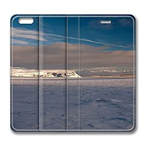 iPhone 6 Plus Case, Fashion Customized Protective PU Leather Flip Case Cover Winter Landscape Iceland for New Apple iPhone 6(5.5 inch) Plus
