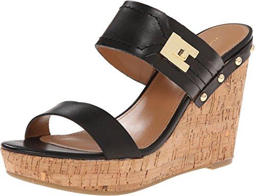 186da7396f66 Tommy Hilfiger Women s Madasen Black Natural Sandal 7.5 M - Buy Online in  Oman.