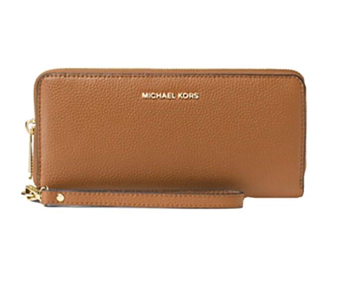 74221cc35318 Michael Kors Travel Continental Leather Wristlet