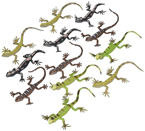 Rhode Island Novelty 12 Assorted Plastic PVC Toy Lizards]()