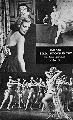 Postcard Scenes from Silk Stockings Broadway Musical Hildegarde Neff~120870 ()