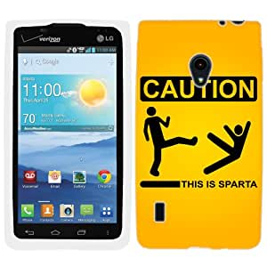 LG Lucid 2 Caution this is Sparta Hard Case Phone Cover