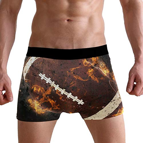 KUWT America Football Sport Men's Boxer Briefs Underwear Comfortable Underpants for Mens Boys Youth