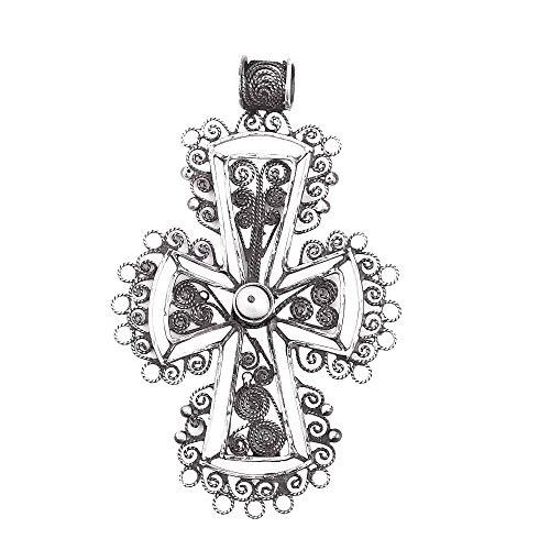 NOVICA Silver White Cultured Freshwater Pearl .925 Silver Individual Pendant, Dark Taxco ()