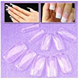 SODIAL(R) 500 FULL COVER False Nails + Free Cable Tie