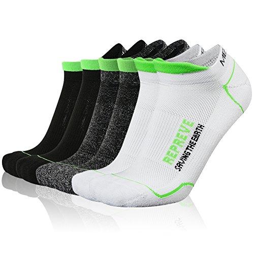 2 Pack Running Socks Low Cut MEIKAN Men Women Moisture Wicking Repreve Socks free shipping