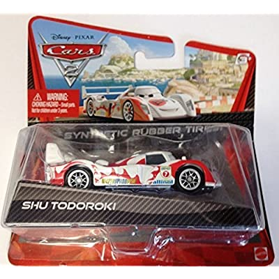 Disney/Pixar Cars 2, Exclusive Movie Die-Cast Vehicle, Shu Todoroki with Synthetic Rubber Tires, 1:55 Scale: Toys & Games