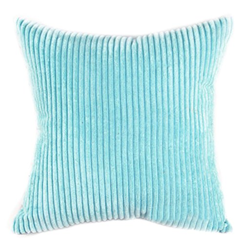 """Famibay Square Solid Cushion Cover With Invisible Zipper For Sofa,Decorative Throw Pillow Case Velvet Corduroy pillow covers decorative 20x20 (20"""" x 20"""", Turquoise)"""
