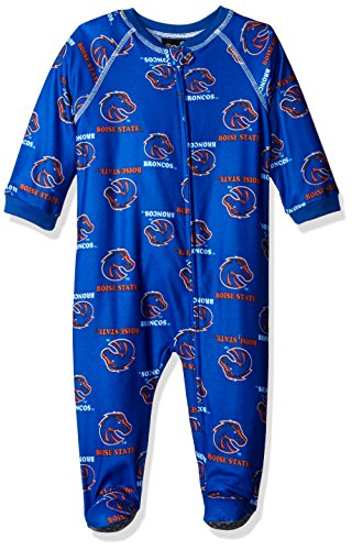 Outerstuff NCAA Boise State Broncos Infant Boys Sleepwear All Over Print Zip Up Coveralls, 18 Months, Collegiate Royal