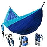 wwww Winner Outfitters Double Camping Hammock – Camping, Travel, Beach, Yard. 118″(L) x 78″(W)- Sky Blue/BlueSky Blue/Blue For Sale