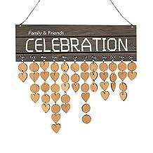Retro Wooden Calendar Hanging Decor Reminder Calendar Board DIY Decoration Ornament Birthday Holiday Gifts