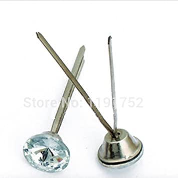 Amazon Com Prong Back Upholstery Buttons 20mm Crystal Sewing On