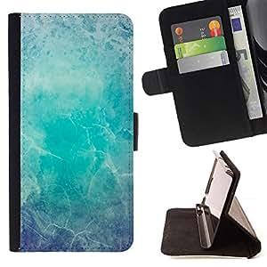 GIFT CHOICE / Teléfono Estuche protector Duro Cáscara Funda Cubierta Caso / Hard Case for Apple Iphone 6 Plus 5.5 // Winter Blue Cracked Ice //