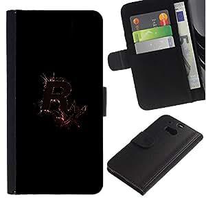 LECELL--Cuero de la tarjeta la carpeta del tirón Smartphone Slots Protección Holder For HTC One M8 -- R Splash R0Ckstar --