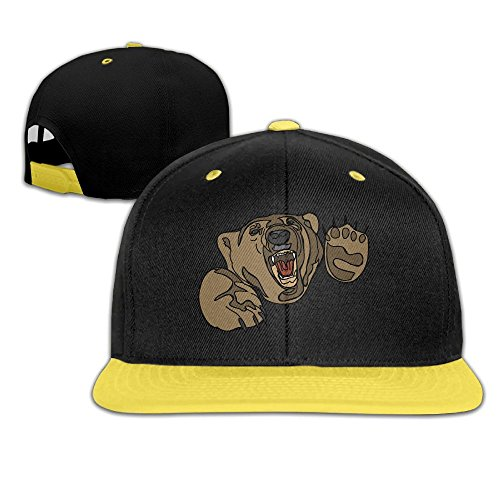 Hip Hop Baseball Cap Open Mouth Bear Trucker Flat Hat For Boys Girls by Oopp Jfhg