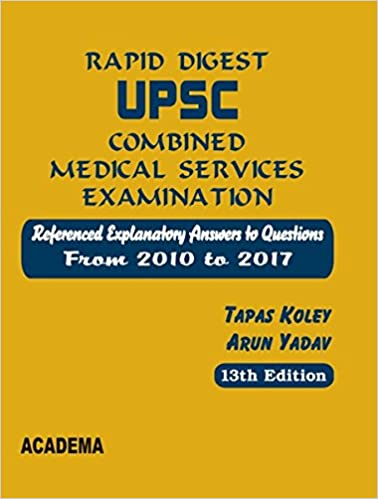 Buy Rapid Digest UPSC Combined Medical Services Examination 2010