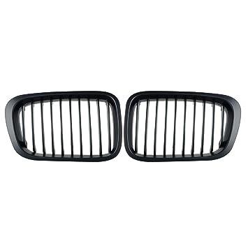Juego de 2 rejillas frontales de repuesto color negro mate para BMW de 1998 – 2001 Serie 3 Sedán E46 320i, 323i 325i 328i 330i de 4 puertas: Amazon.es: ...