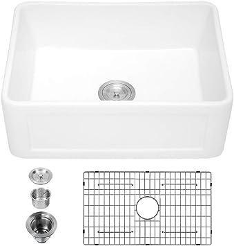 Porcher 35120 01 075 24 Inch London Farm Sink With Rack Stainless Steel Farm Sink Stainless Steel Farmhouse Sink Sink