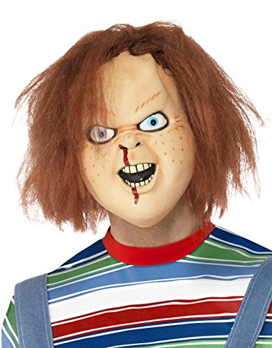 [Child's Play Men's Play Costume Accessory Chucky Mask One Size Multicolor] (Chucky Costumes For Children)