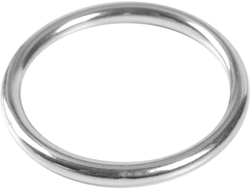 Dwawoo Runde O-Ringe robuster Edelstahl 304 glatt geschwei/ßter Werkzeugring polierter hochfester