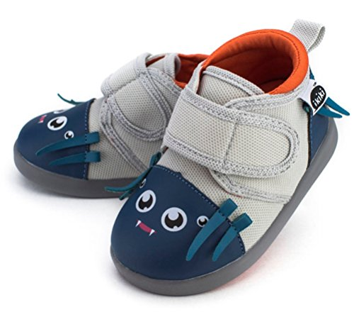Silk Baby Shoes - ikiki Silk Von Webster Squeaky Shoes for Toddlers w/Adjustable Squeaker, Size 4, by
