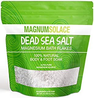 Magnesium Bath Flakes, Large 10 LBS Exceptional #1 Therapeutic Source for Body & Foot