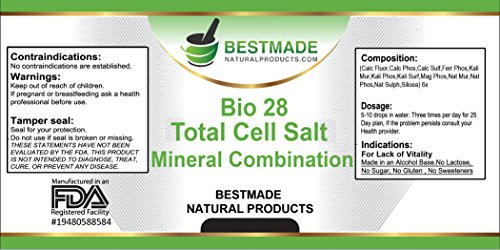 Total Cell Salt Mineral Combination (Bio28) Natural Mineral Supplement Cell Salts for Health and Wellness Photo #5