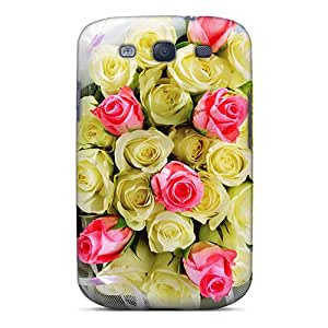 Galaxy High Quality Tpu Case/ Bouquet Of Roses NnYNJnG7143rchuV Case Cover For Galaxy S3