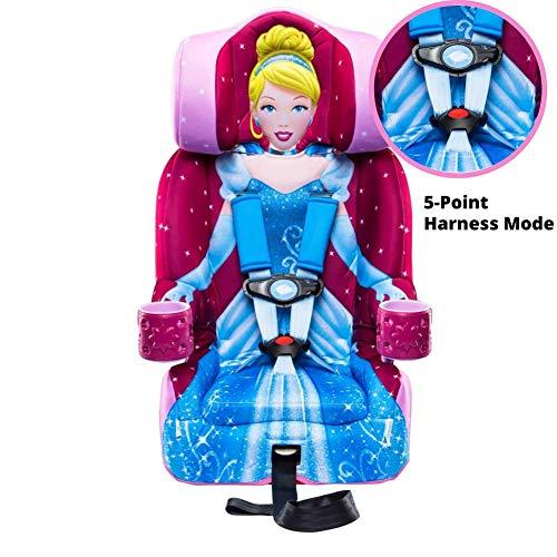51l0F1lXPHL - KidsEmbrace 2-in-1 Harness Booster Car Seat, Disney Princess Cinderella, Pink