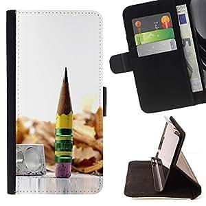 Momo Phone Case / Flip Funda de Cuero Case Cover - madera grafito metálico lápiz - Sony Xperia Z3 Compact