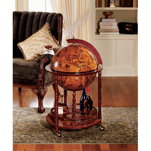 Liquor Cabinet Sixteenth Century Italian Replica Globe Bar Cart