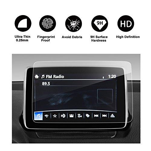 RUIYA 2017 Toyota Yaris iA 7-Inch In-Dash Screen Protector, HD Clear Tempered Glass Car Navigation Screen Protective Film