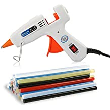 Lifegoo Mini Hot Melt Gun Glue with 40pcs EVA Glue Sticks Colored and Storage Bag for DIY Small Craft Projects and Removable Anti-hot Cover Glue Guns Kit Flexible Trigger