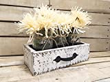 Rustic Reclaimed Wood Box, Wooden Painted Drawer, Reclaimed Box Crate, Mason Jar Centerpiece, Jars For Sale