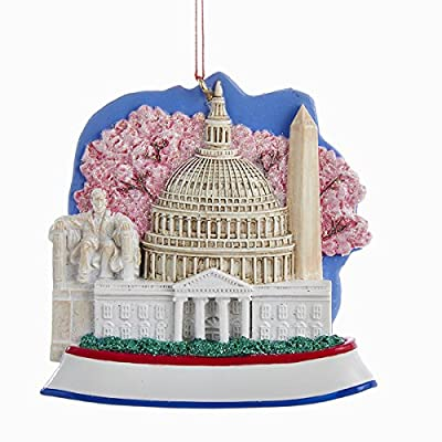 Kurt Adler Washington D.c. Scene Resin Christmas Ornament