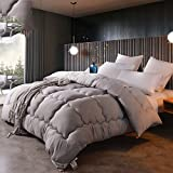 LU- Comforter Duvet Gentle And Comfortable Thicken Warm Quilts Tasteless-gray ( Size : Super king-220240cm )