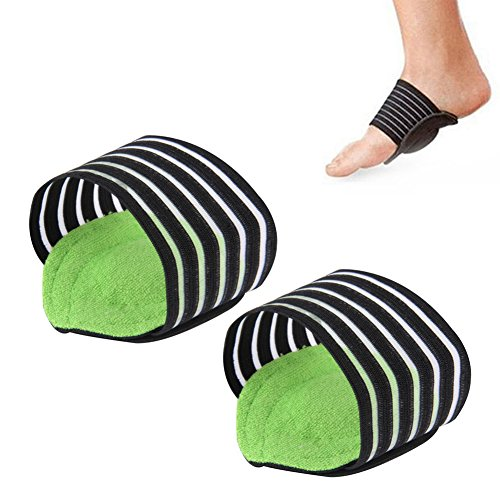 2 Pairs of Foot Arch Support, Sunbeter Plantar Brace Ease Pain Aid Feet Cushioned Shock Absorber Health Care Foot Protector Supports by SunBeter