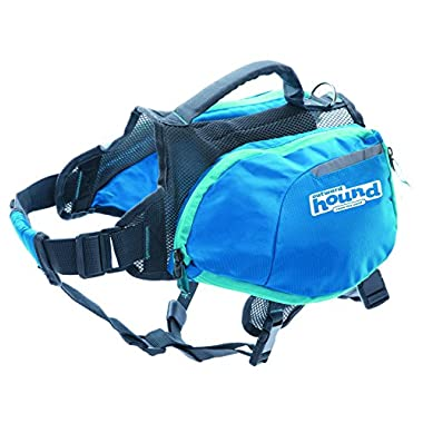 Outward Hound DayPak Dog Backpack Adjustable Saddlebag Style Hiking Gear for Dogs, Medium, Blue