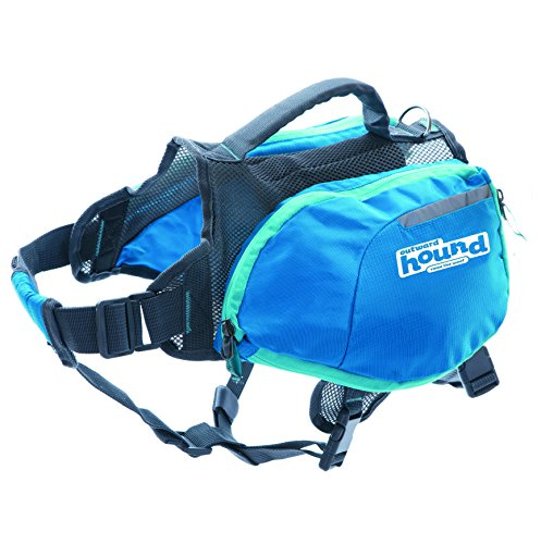 Outward Hound DayPak Dog Backpack Adjustable Saddlebag Style Hiking Gear for Dogs, Medium, Blue (Hiking Dog Gear compare prices)