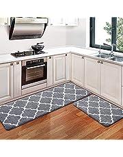 Padyrytu Kitchen Rugs and Mats Kitchen Mat Non Slip Machine Washable Runner Carpets for Floor, Kitchen, Bathroom, Office Small