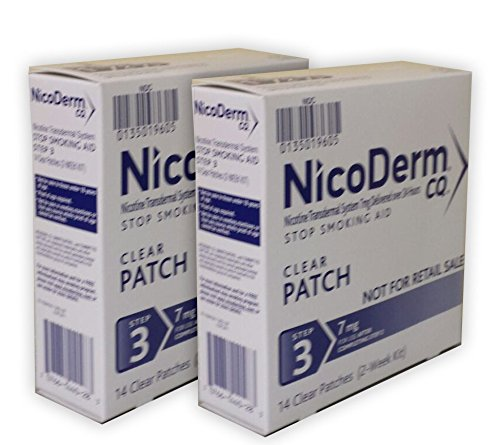 NicoDerm CQ Clear Nicotine Patch 7 milligram (Step 3) Stop Smoking Aid 28 count