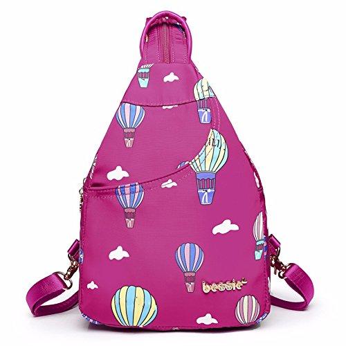 MSZYZ Ocio Mujer mama Canvas bag, luz mini mini mochila de nylon,azul red