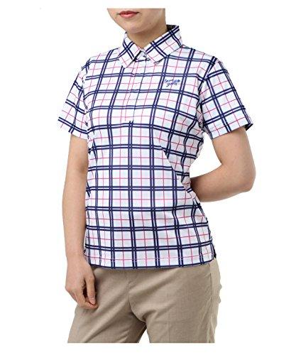 オプスト レディース ゴルフウェア ポロシャツ 半袖 チェック柄半袖シャツ OP220301H05 WH M