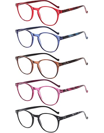 525dec63fe2 5 Pairs Reading Glasses - Standard Fit Spring Hinge Readers Glasses for Men  and Women