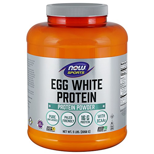 Now Sports Nutrition, Egg White Protein Powder, Unflavored, 5-Pound (Best Egg Protein Powder)
