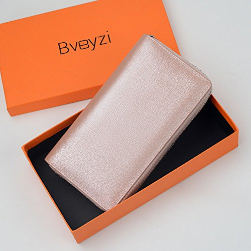36 Credit Card Holder Wallet Leather RFID Women Card Case Organizer Purse (Rose Gold) by Bveyzi (Image #5)